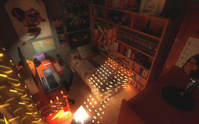 Baxayaun's Room - A Source Engine scene combining HDR lighting and hi-resolution textures.